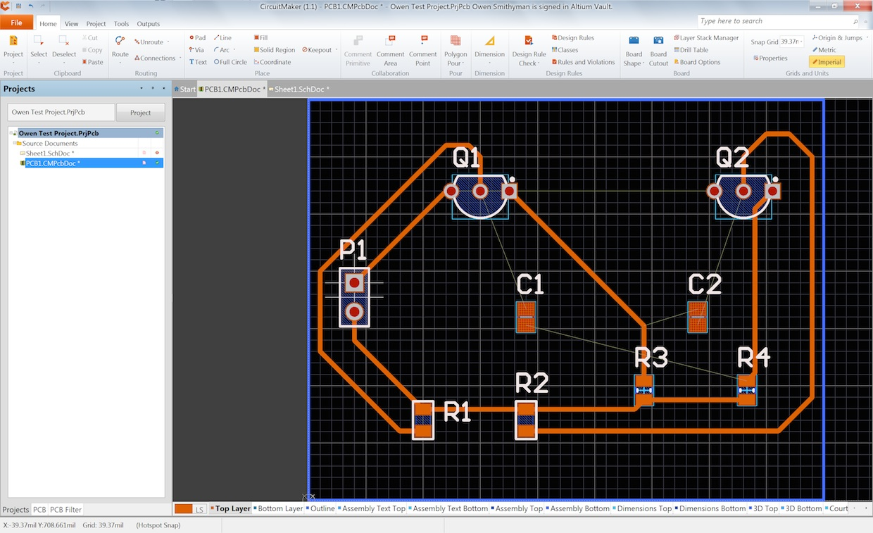 CircuitMaker PCB software for designing PCBs