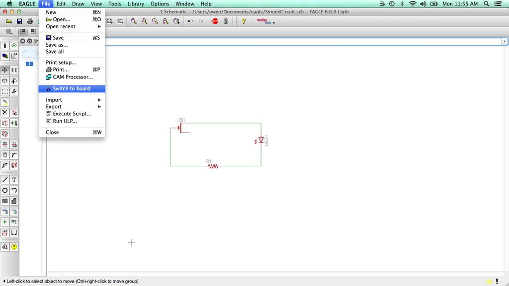 Creating Circuits with EAGLE – Bantam Tools